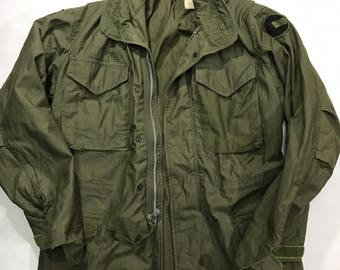 Vintage 60s M-65 Field Jacket Sz Regular Small US Army Green m65 fatigue bdu military militaria