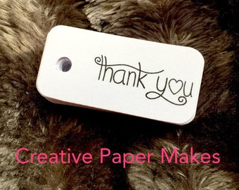 50 Thank you favour tags, wedding tags, party tags, thank you tags, gift tags