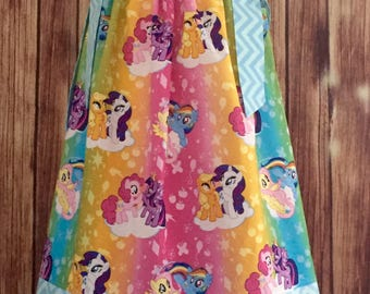 Little Pony pillowcase dress, Pony pillowcase dress, My little pony dress, Little Pony rainbows colors dress, Pillowcase dress with Ponies