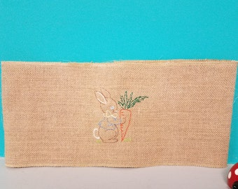 Bunny burlap pillow wrap! to fit 15 x 15 pillow.  So cute!!!