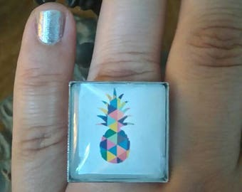 "Square ring ""pineapple"""