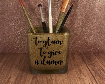 Glitter make up brush holder, brush holder, make up jar, make up organizer, gifts for her, make up, organizer