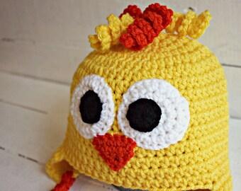 Crochet Easter Chick Hat, Kid Easter Hat, Baby Easter Hat, Easter Hat, Animal Hat, Crochet Spring Hat, Crochet Baby Hat, Easter Baby Hat