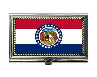 Missouri State Flag Business Credit Card Holder Case