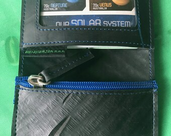 Inner Tube Card/Coin Wallet, Vegan Wallet, Upcycled Wallet, Fair Trade Wallet, Rubber Wallet,