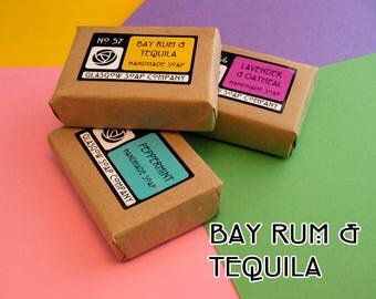 Bay Rum & Tequila Handmade Soap - Rum Gift - Handmade Soap - SLS and Paraben Free - Cold Processed - Soap Gift - Scottish Gift
