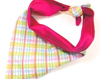 reversible plaid bibdana