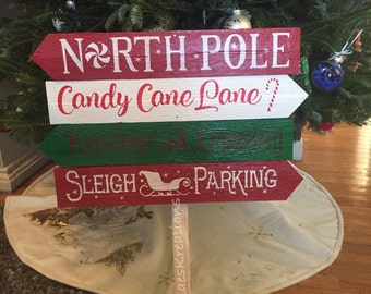 Christmas directional sign/ outdoor christmas decor