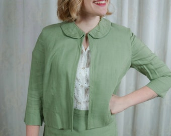 1960s Olive Green Two Piece Suit - XS