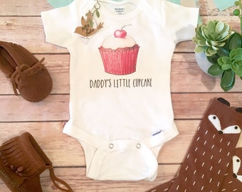 Daddy Onesie®, Fathers Day Gift From Baby, Cute Baby Clothes, Cupcake Onesie, Baby Girl Clothes, Dad Onesie, Dad Baby Bodysuit, Hipster Baby