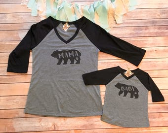 Mothers Day Gift, Mama Bear Shirt Set, Mommy and Me Shirts, Mommy and Me Outfits, Mom and Son Shirts,Mom and Daughter Shirts,Baby Bear Shirt