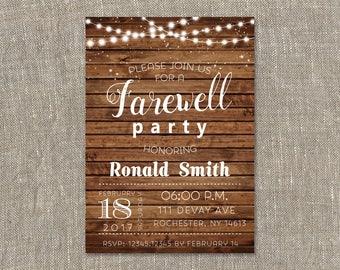 farewell party einladung abschied einladung rustikale, Einladungen