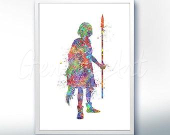 Princess Mononoke Studio Ghibli Watercolor Poster Print - Watercolor Painting - Watercolor Art - Home Decor - Nursery Decor [1]