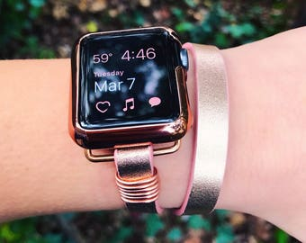 Apple Watch Band, Gift for Her, Faux Leather Apple Watch Band, iWatch Band, Wearable Technology, Wearable Tech, Apple Watch Accessories