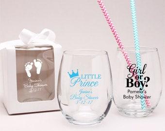 24 pcs Baby Shower Personalized 9 Oz Stemlesss Favors - JM6903895-9OZ