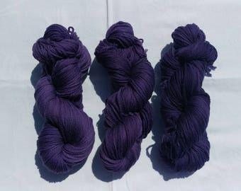 Gorgeous aubergine purple DK merino