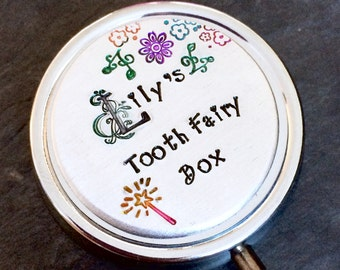 Tooth fairy box, tooth fairy case, tooth fairy keepsake, trinket box, personalised, keepsake box, tooth fairy personalised box, fairy box