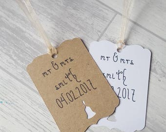 Handmade Wedding Tags, 25, Thank You Tags, Wedding Favor Tags, Wedding Favour Tags, Personalised Tags, Personalized Tags, Unique Gift Tags.