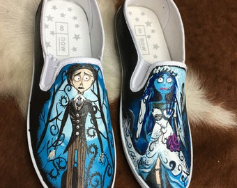 Tim Burtons Corpse Bride Hand Painted Shoes
