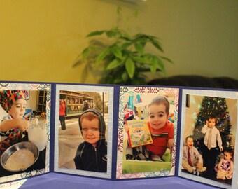 Baby scrapbook, Baby Mini album, Baby Boy album, Baby Boy gift, Accordion scrapbook, Baby Shower Baby Boy, Baby Shower Gift, Present