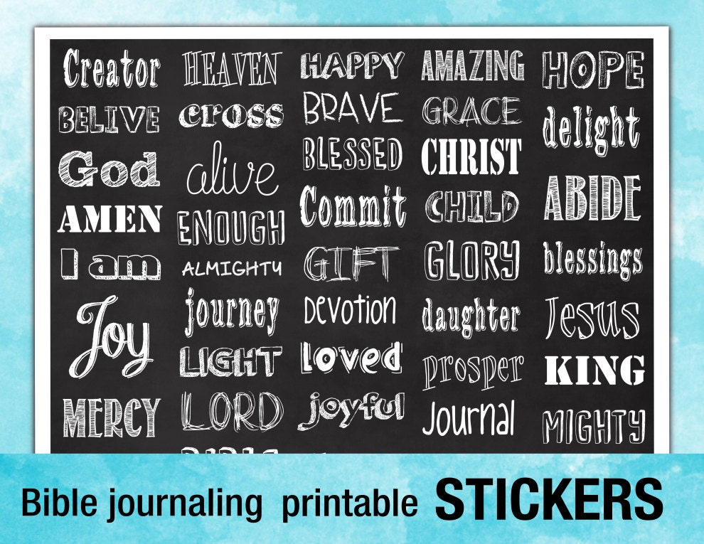 PRINTABLE STICKERS for Bible journaling
