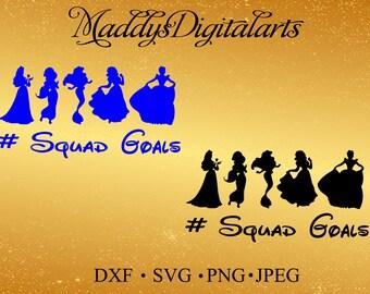 Disney Squad Goals SVG, Squad Goals SVG, Disney, Disney Clip art, Cuttables, Cricut svg, Silhouette svg, Cutting File, heat transfer vinyl