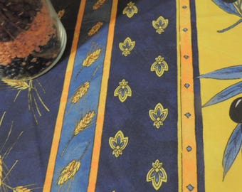 "FRENCH PROVENCAL Tablecloth, ""Anti-Touch"" Stain Resistant Indoor-Outdoor Linens"