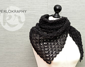 Crochet cloth ~ stole ~ anthracite