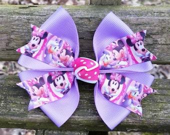 Minnie Mouse and Daisy Duck Disney Hair Bow (4 inch)