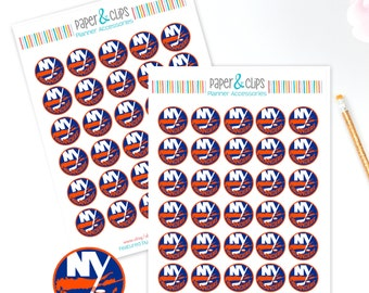 30 New York Islanders Hockey Reminder or Planner Stickers