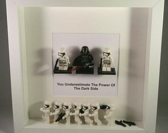 Star Wars Conga Line Framed Figures. Darth Vader And His Stormtroopers