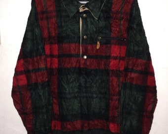 Polo Ralph Lauren plaid polyster sweatshirt