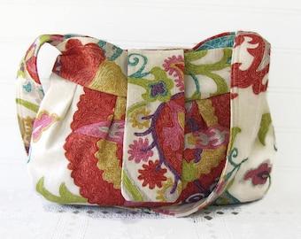 shoulder bag, fabric hobo handbag, spring handbag, fabric purse, ladies handbag, linen, obiandoli handbags