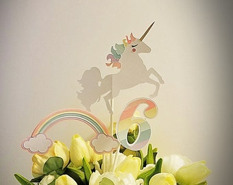 Rainbow Unicorn Centerpieces/Cake Topper