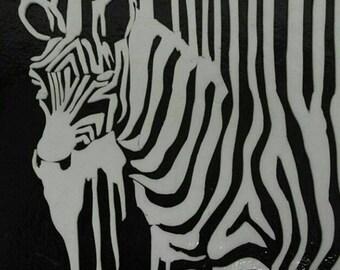 Zebra (glass fusion _ fusing glass)