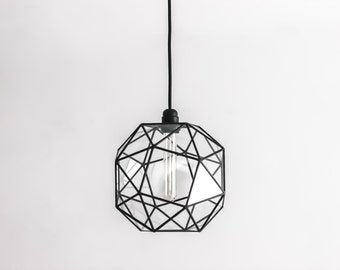 keppler snub cube large chandelier geometric glass pendant light vintage bulb lamp studio