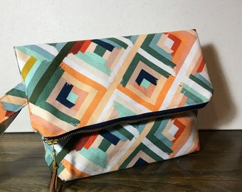 Fold Over Clutch with Wrist Strap