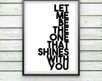 Digital A4 Print, Oasis Song Lyrics, Home Decor, Decorative Print