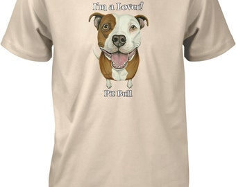 Pit Bull Lover, Pit Bulls are Lovers, Save a Pit Men's T-shirt, NOFO_00396