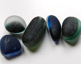 Deeply Patterned Sea Glass Multis for Pendants