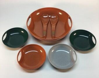 Mid century Melmac serving set
