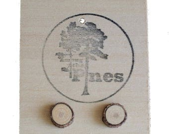 Natural Wood Earrings - foraged - salvaged - nature - great outdoors - handcrafted - eco - jewellery