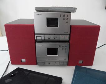 Sony Compact Component System HCD-T1 TC-TX1 sa-n1 CD Cassette am/fm Radio, Sony sound system, Vintage sound system
