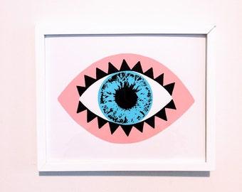 Mystic Eye 8x10 Screen Print