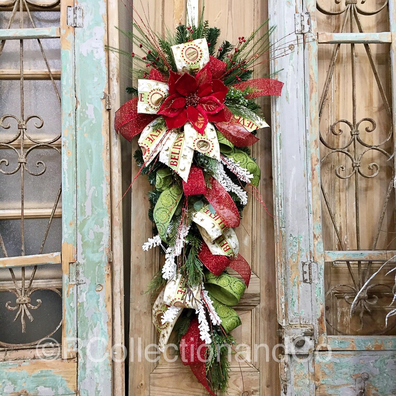 Christmas Swags Decorations: Christmas Swag Christmas Door Swag Door Decor Christmas