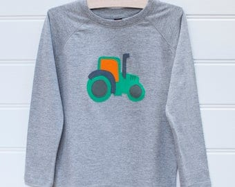 Boy's Tractor T-shirt - Long Sleeves - Boy's Clothing - Boy's T-shirts - Boy's Tops - Kid's Clothing - Tractors - Kid's Tops - Clothing