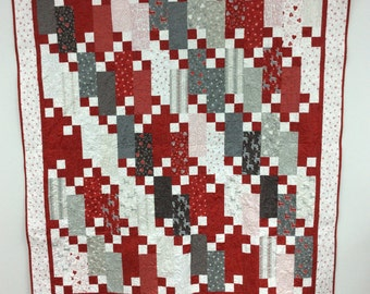 Four Patch Frenzy Quilt Kit, Missouri Star Pattern featuring JOL fabric from Moda