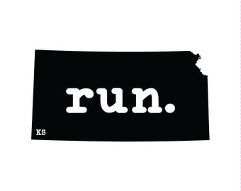 Run KS State Outline Magnet