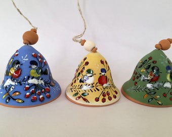 Ceramic Bell Pottery Bell Ornament Bell Home Decor Ceramics And Pottery