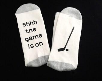 Hockey Socks - Hockey Gift - Hockey Mom - Hockey Dad - Funny Socks - Gift for Him - Dad Gifts - Socks - Christmas Gift - Hockey Player